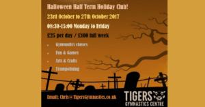 Half Term Halloween Tigers Gymnastics