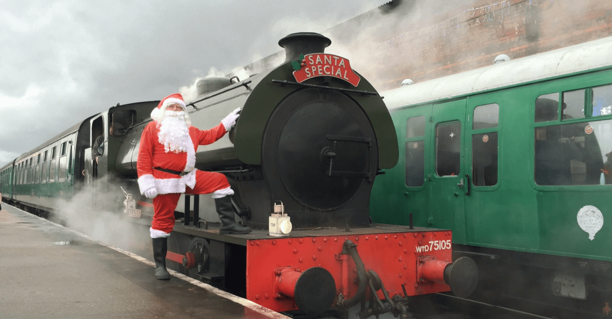 best places to see Father Christmas in Kent and East Sussex Spa Valley Railway