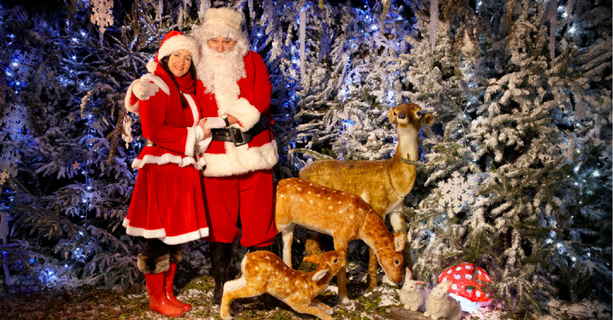 best places to see Father Christmas in Kent Hever Castle