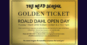 The Mead School Roald Dahl Open Day