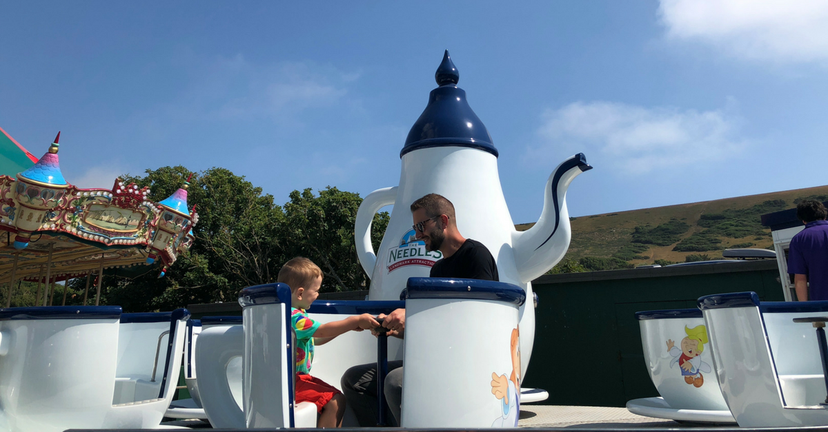 family break on the Isle of Wight. Teacups at The Needles
