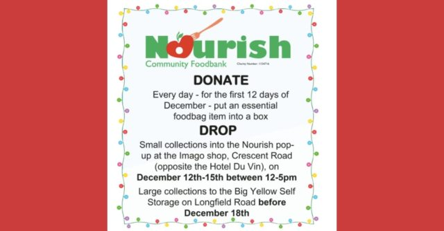 Nourish Foodbank and Imago partner for 12 Days of Christmas food drive