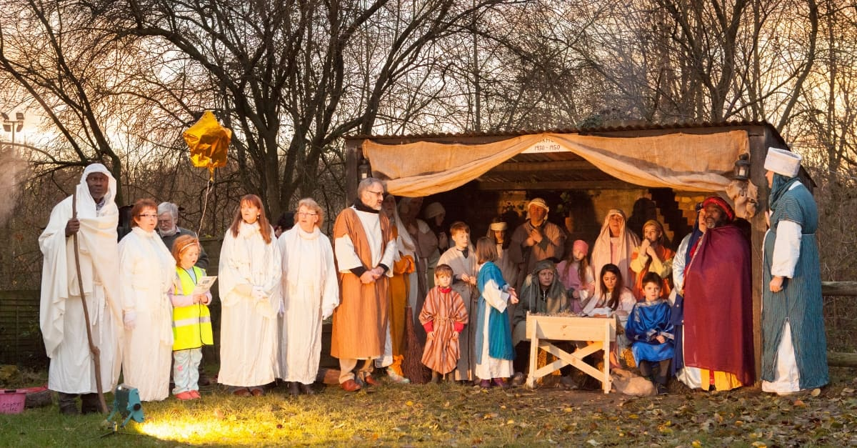Farm Nativity at Kent Life