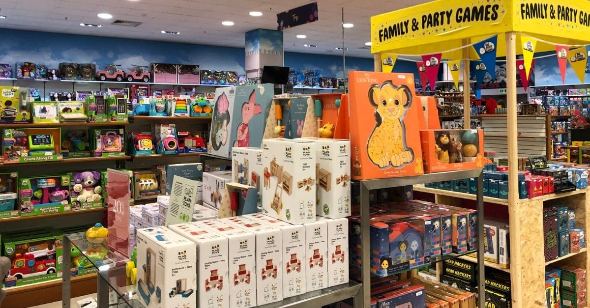Shopping in Tunbridge Wells Toy Section at Fenwick